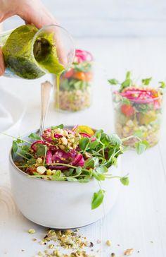 Corn, Farro, and Tomato Salad