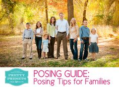 Free Posing Guide: Posing Tips for Families, Teenagers, Kids and Toddlers!
