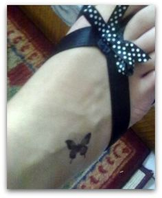 small butterfly on leg for girls - Tattoos Designs -  The real trend!