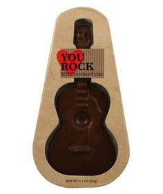 You Rock Chocolate Guitar: This solid milk chocolate figurine is the perfect way to indulge the rock star in your life.