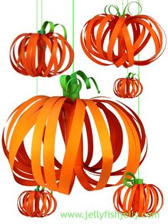 Paper Pumpkin Lanterns from Jellyfishjelly