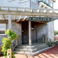 """ Madaket Millie"" Jewett, a Nantucket legend, spent her life caring for the beaches, the animals and the people of Madaket. Reserved, yet strong-minded, Millie embodied the self reliant spirit of native islanders. Millie's restaurant is located steps from the Madaket beach and our House!    http://www.milliesnantucket.com/"