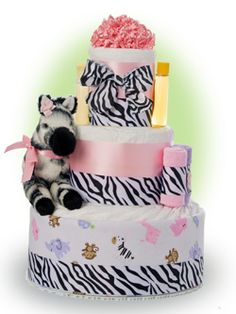 Who says a safari is only for boys? Our pink safari cake is made with an adventerous little girl in mind. Pink and zebra print is also just so fashionable. Only $67.00