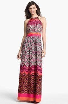 Eliza J Mixed Print Maxi Dress available at #Nordstrom