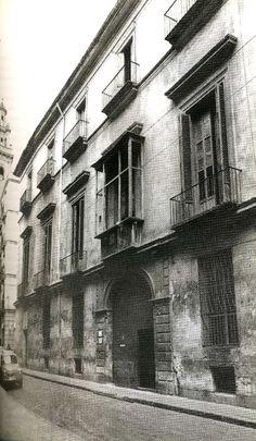 Palacio de Parcente derribado en 1965.