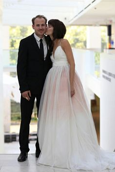 ombre-wedding-dress-peach-accent