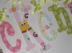 Happi Tree  nursery letters  custom  hand by TrendyTotsLetters, $12.00