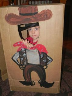 DIY Cowboy Photo Prop from a box- cute!