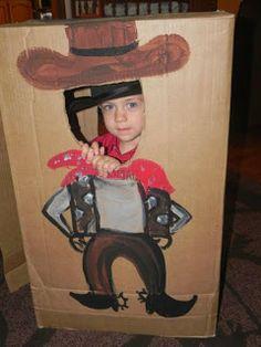 DIY Cowboy Photo Prop from a box- cute!