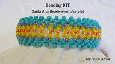 Beadwoven Bracelet Kit PDF Beadwork Tutorial Kit by mybeads4you