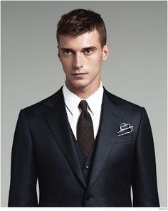 Clément Chabernaud Models Gucci Mens Tailoring Suit Collection