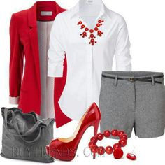 Red, white & gray