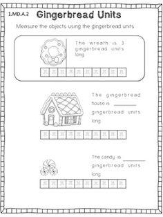 Gingerbread Measurement Unit >> Various activities to practise measurement using informal units.