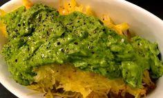 Kale With Love: Spaghetti Squash with Avocado Pesto Sauce #Keto #LowCarb