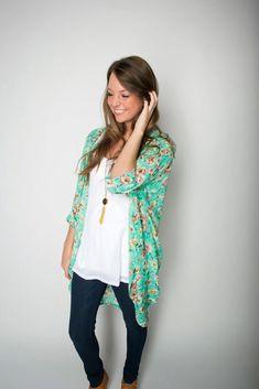 Stylish Floral Kimono