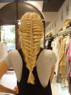 french braids, mermaid tails, long hair, longer hair, fishtail braids, casual hairstyles, braided hairstyles, prom party, braid styles