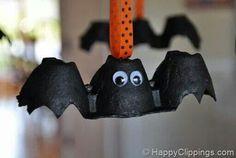 halloween decorations, halloween bat, idea, carton batssuch, lincoln, eggs, pumpkins, egg cartons, kids