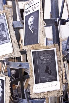 vintage photos on an antique bottle drying rack