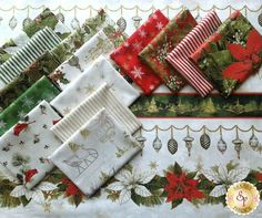 woodland christmas fabric | Woodland Christmas by Sandy Lynam Clough for Red Rooster Fabrics