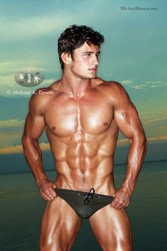 Photo © MICHAEL A. DOWNS - hot fit guy abs nice arms bare chest hunk jock male form fitness model adonis shirtless body speedo ripped muscles michaelanthonydowns.com
