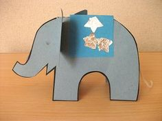 from Preschool Crafts for Kids*: elephant which could be used with Elmer or India the Showstopper
