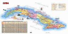 Mapa turistico de Cuba