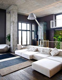 colour palette purple navy grey white couch