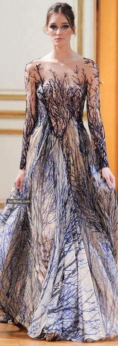 Zuhair Murad Fall Winter 2013-14 Haute Couture Collection  A dress for a Druid goddess.