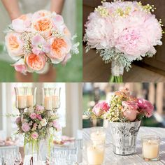Blush bouquets and a