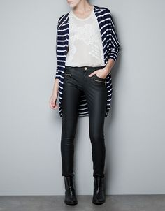 STRIPED JACKET - Knitwear - Woman - ZARA United Kingdom