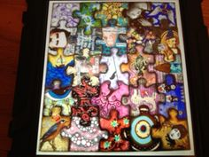 Good for class project. Every student draws a puzzle piece