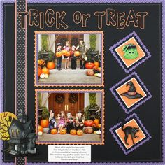 Classic Halloween Stickers Scrapbooking Layout Idea