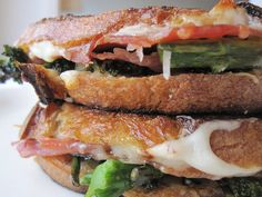 Grilled Mozzarella with Prosciutto and Broccoli Rabe