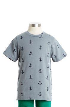 Peek 'Allover Anchor' T-Shirt  (Toddler Boys, Little Boys & Big Boys)   Nordstrom