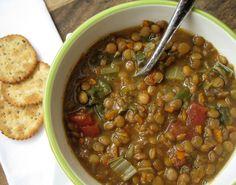 Lentil Soup {Slow Cooker and Vegan}
