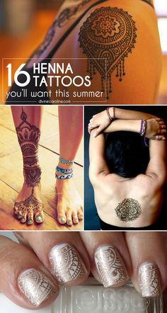 Henna tattoos are painless, temporary, and stunning! We've rounded up some of our favorite designs that you're definitely going to want to try. #henna #hennatattoos #besthenna