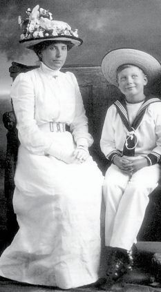 The forgotten son of George Vth.  Prince John suffered with epilepsy, & spent most of his life away from publicity.  The picture shows him with his beloved Nanny, Lalla, who was devoted to him.  He died in 1919, at the age of 13 yrs.