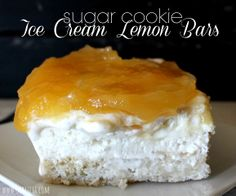 ~Sugar Cookie Ice Cream Lemon Bars!