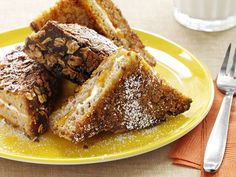 Crunchy Bran French Toast from #FNMag #myplate #fruit