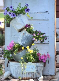 Garden ideas with old household items
