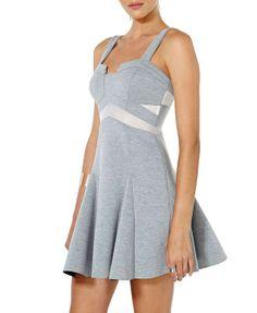 Contrast Color Skater Dress - $46