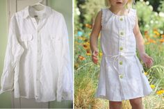 Girl's Dress from Daddy's old Shirt