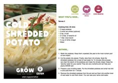 Cold shredded potato #GROWmethod #recipe