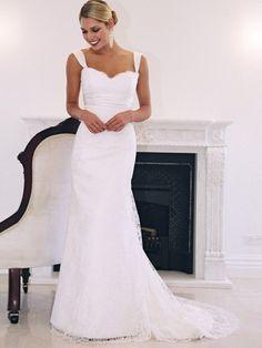 Polish lace wedding dress, casual wedding dress, second time wedding dress