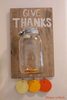 """How cool would a giant version of this be for kids. Have them """"give thanks"""" when they sign in"""