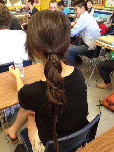 Cool ponytail! ;)