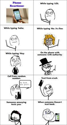 Phone Reactions! so true haha