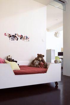 White kids bed