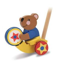 Drumming Bear Push Toy for Toddlers