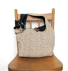 CROSSBODY BAG Floral Hobo Bag Long Strap Brown and by thehobotrain, $40.00